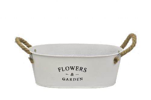 plechový květináč