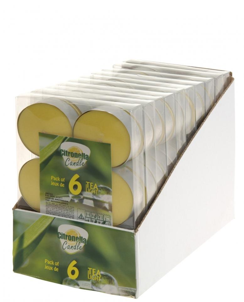 Čajové svíčky Citronella 6 ks