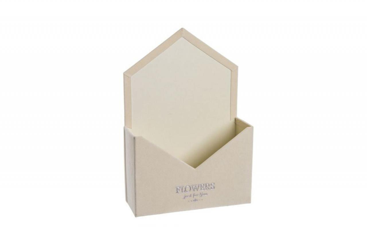 Flower box obálka, krémová sametová
