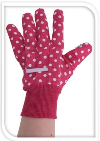 Zahradnické rukavice růžové L