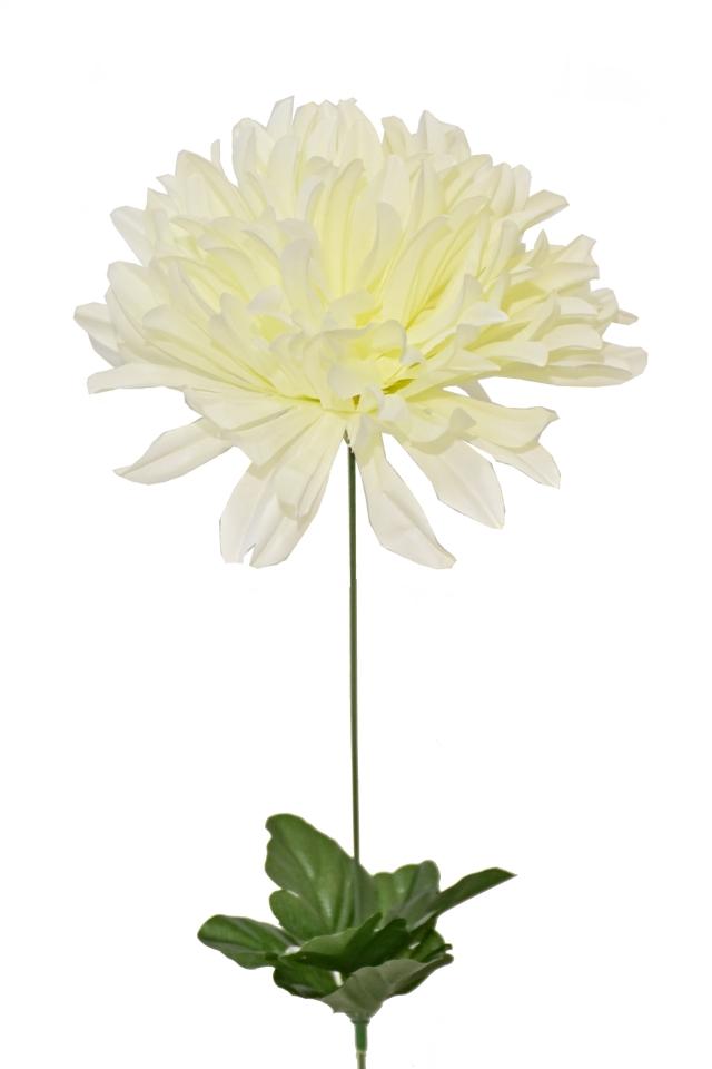 Umělá chryzantéma 58 cm, krémová