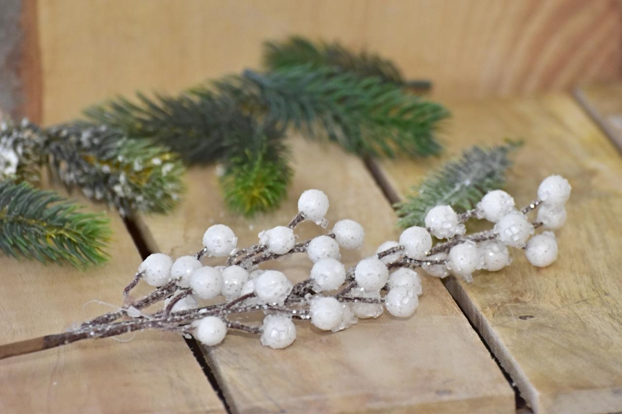Vánoční větvička s glitry, 38 cm