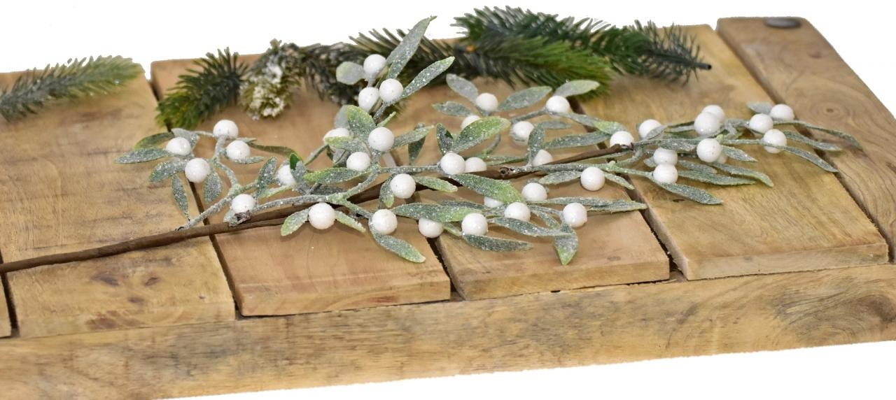 Vánoční větvička s glitry, 60 cm