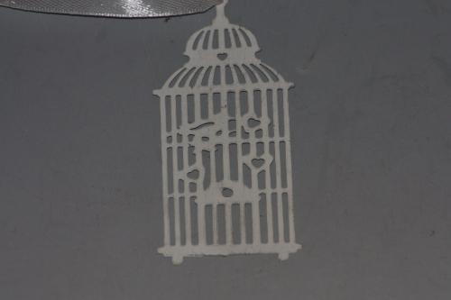 Kovová klícka-ptáček a srdíčko