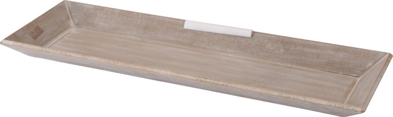 Dřevěný tác 20x60 cm, šedý