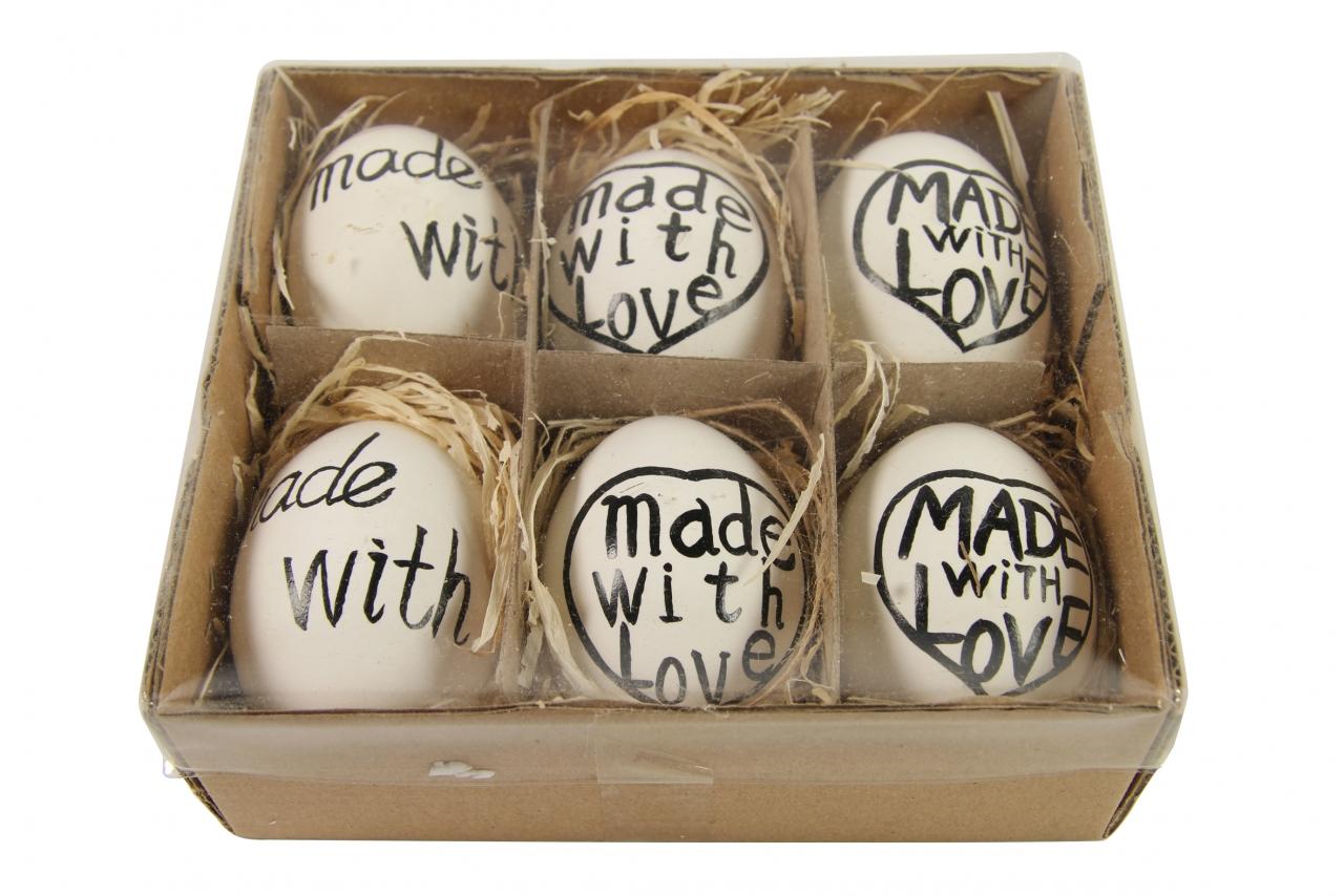 Velikonoční vajíčka sada 6 ks