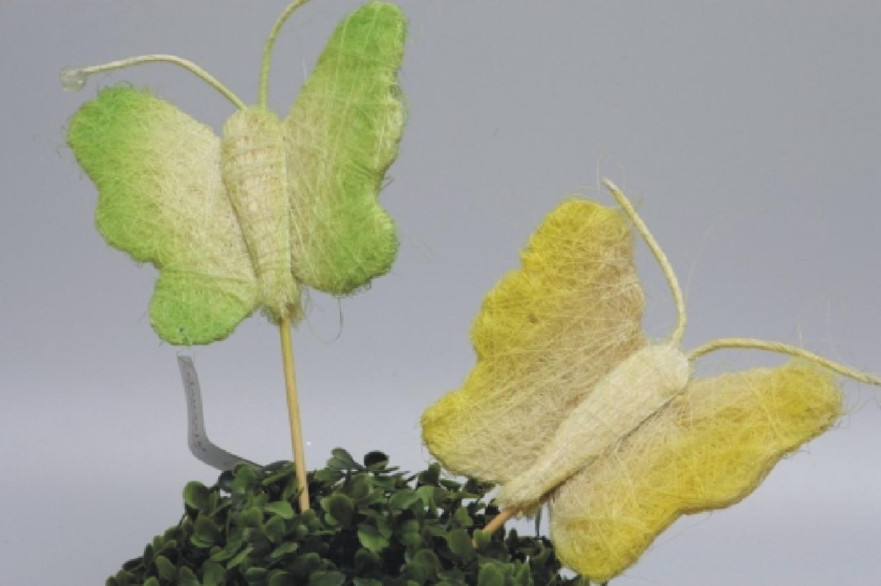 Motýl ze sisalu
