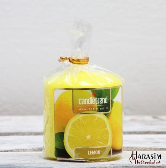 Svíčka válec Lemon 5,5 cm