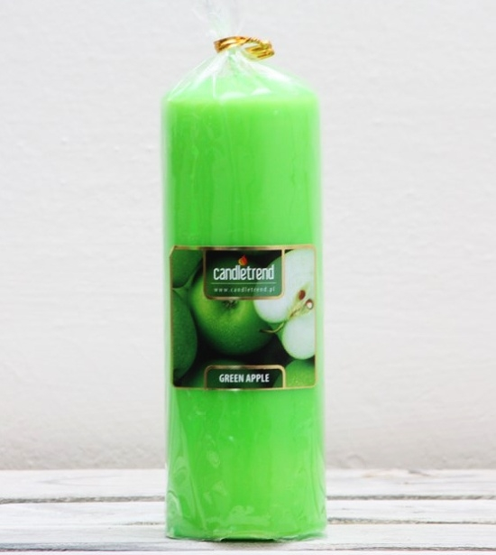 Svíčka válec Green Apple 16,5 cm
