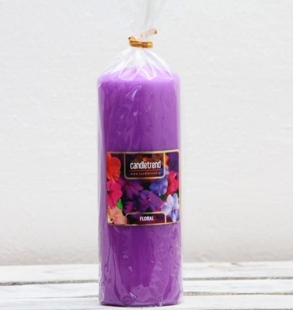 Svíčka válec Floral 16,5 cm