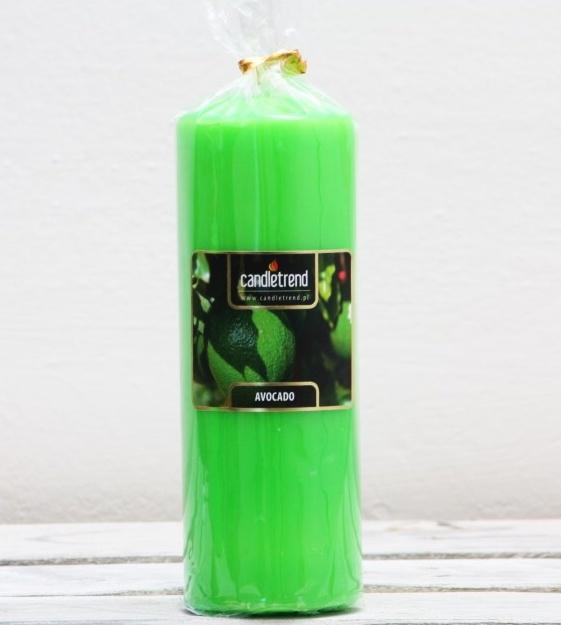 Svíčka válec Avocado 16,5 cm