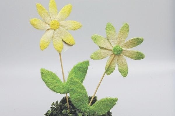 Květina ze sisalu 46 cm