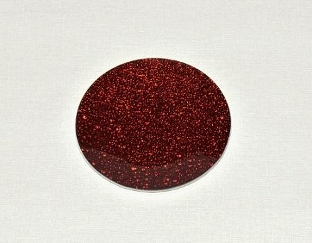 Skleněný tác 15 cm, červený mražený
