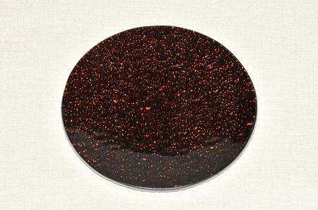Skleněný tác 15 cm, hnědý mražený