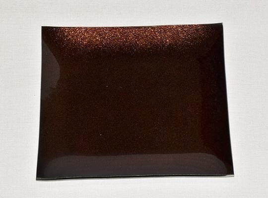 Skleněný tác 24,5 x 24,5 cm, hnědý s perletí