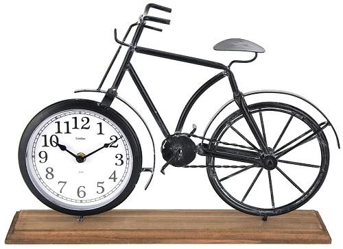 Hodiny na postavení Bicykl, bez plastového krytu