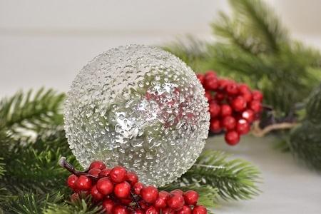Skleněná vánoční baňka - L