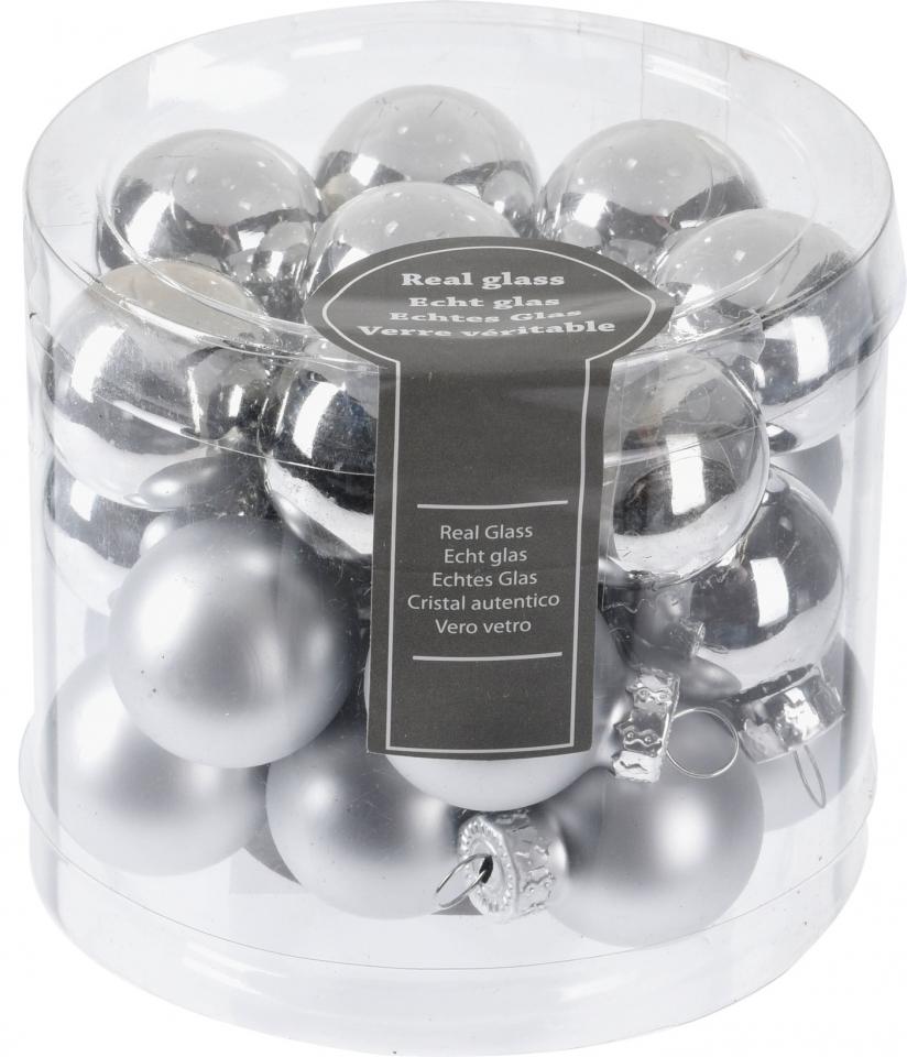 Stříbrná baňka (24 ks)