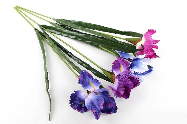 Umělá květina Iris mix 4 barev, 70 cm
