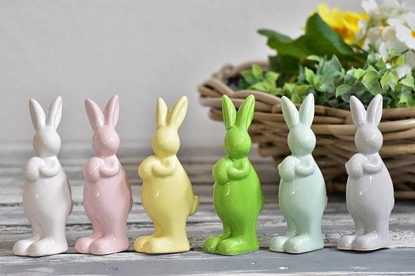 Porcelánový zajíc mix barev 11 cm
