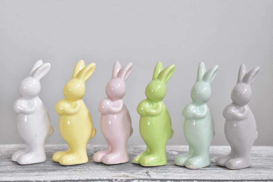Porcelánový zajíc mix barev 7 cm