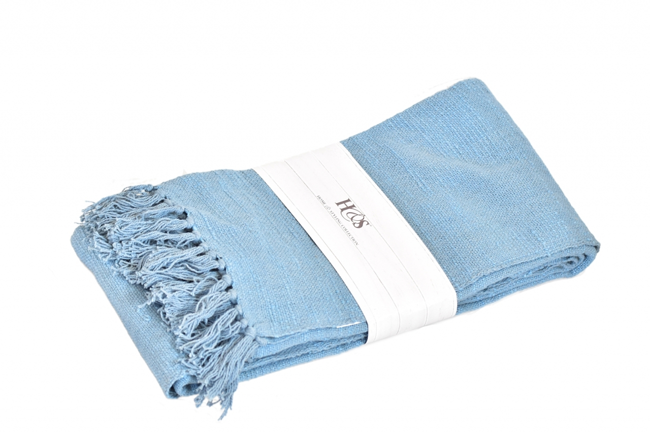 Pléd 130 x 170cm, barva modrá