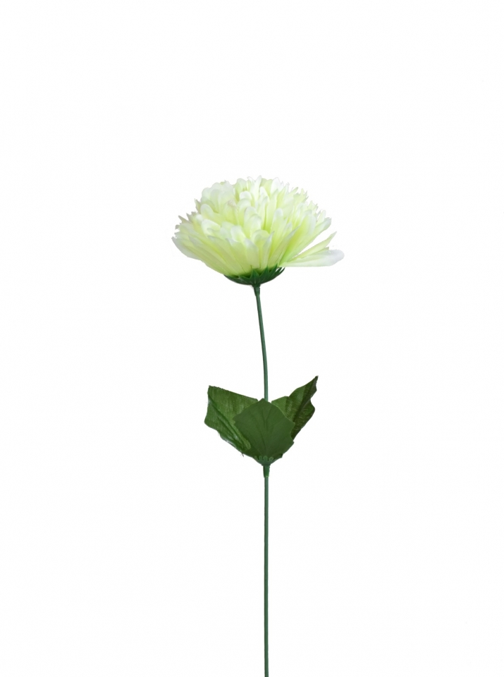Umělá chryzantéma 53 cm, zelená