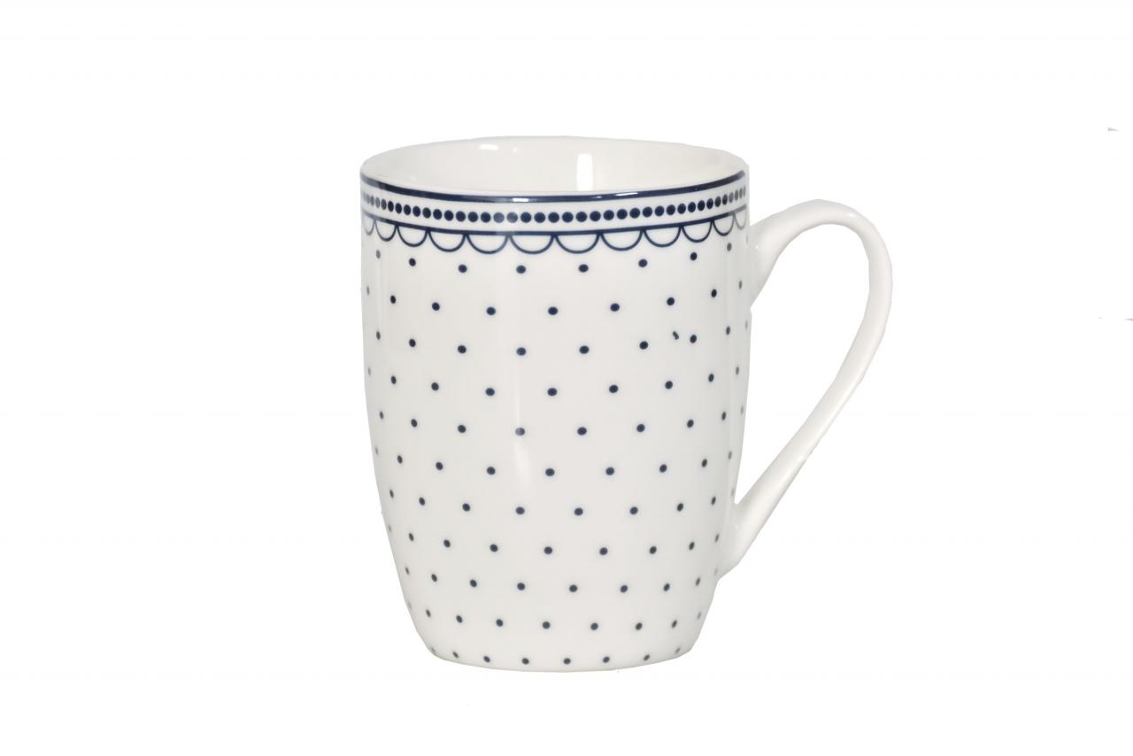 Hrnek Dots - white 350 ml