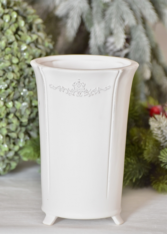 Keramický květináč/váza ornament 22x15 cm