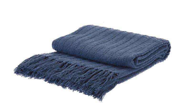 Pléd modrý 170x130 cm