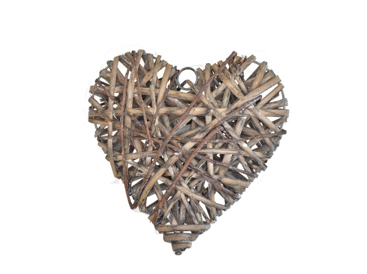 Ratanové srdce 20x20 cm