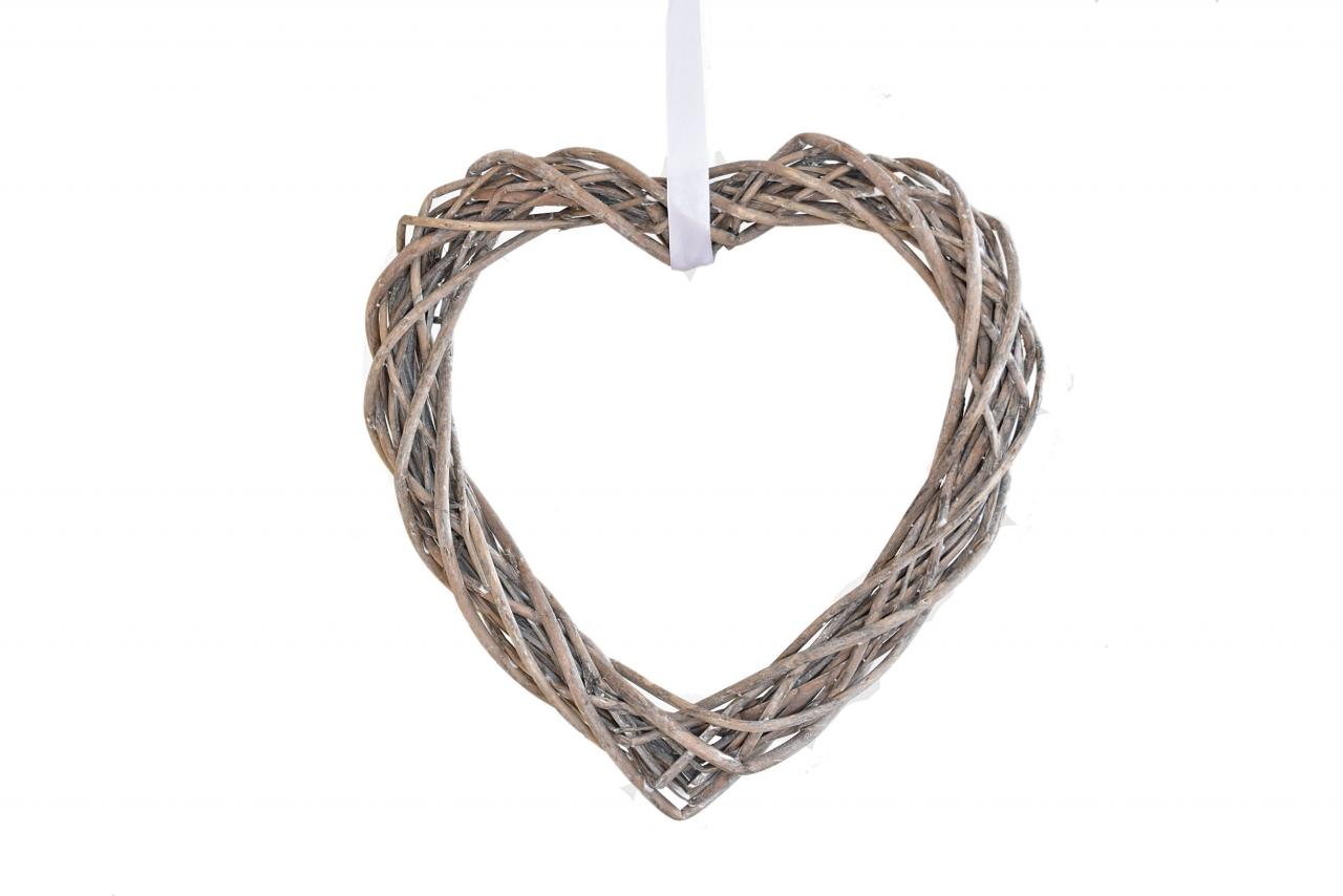 Ratanové srdce 31x31 cm