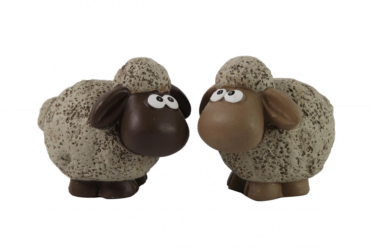 Keramická ovečka Dolly S hnědá