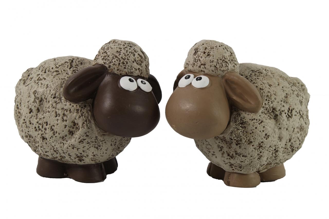 Keramická ovečka Dolly M hnědá