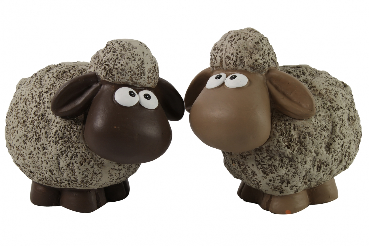 Keramická ovečka Dolly L hnědá