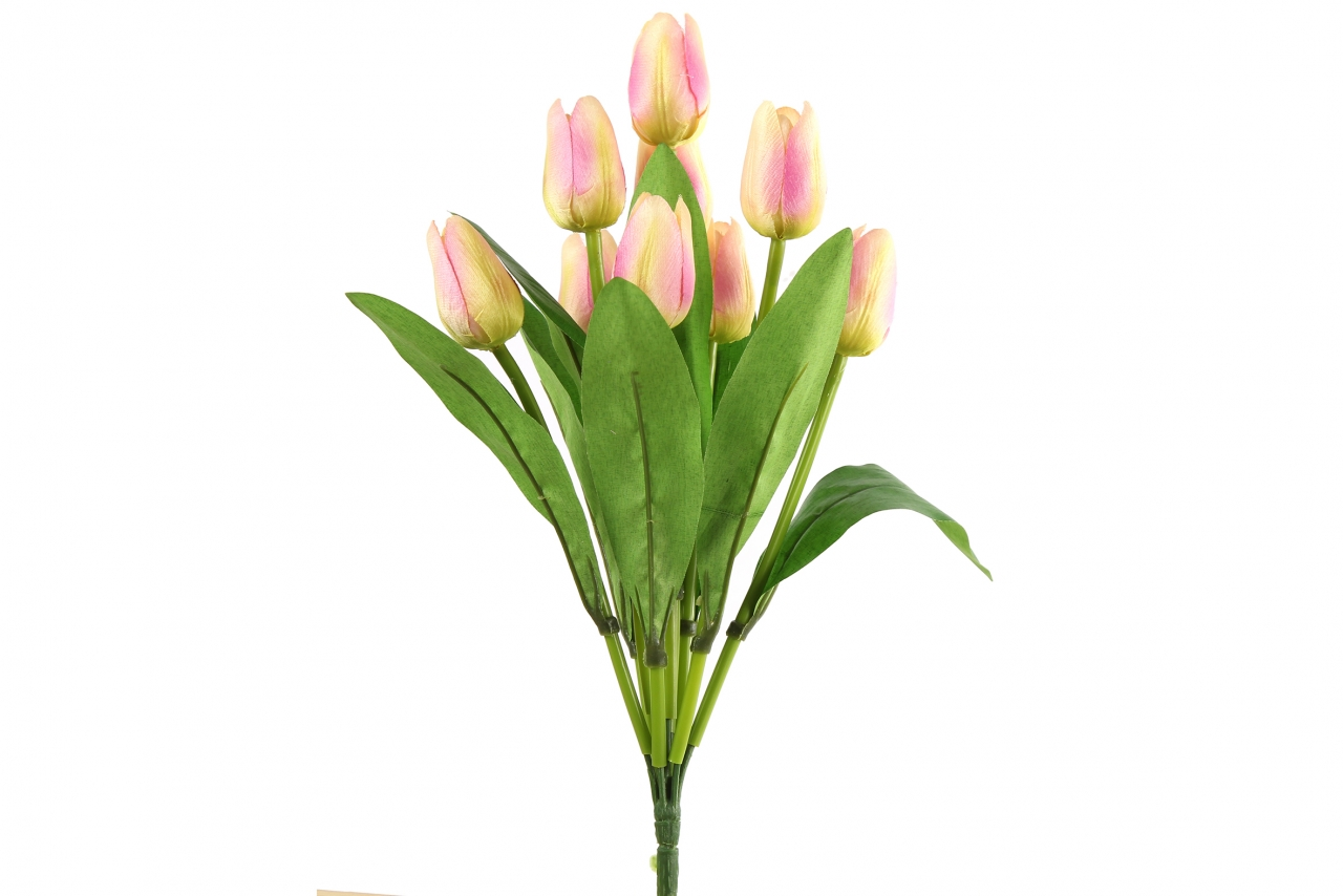 Kytice umělých tulipánů - růžová