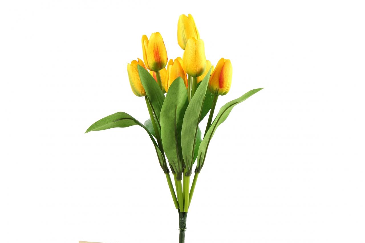Kytice umělých tulipánů - žlutá
