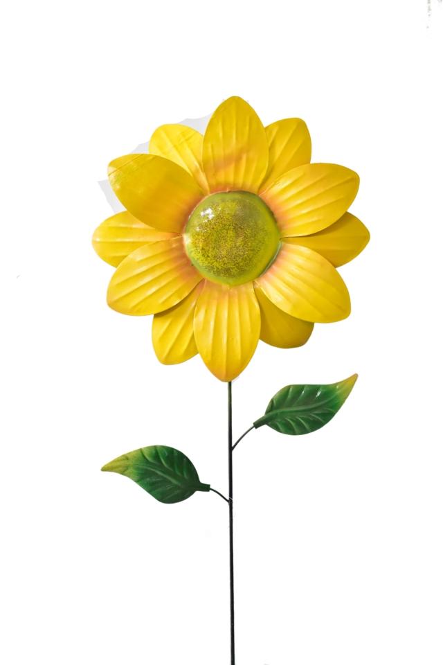 Kovový zápich květina