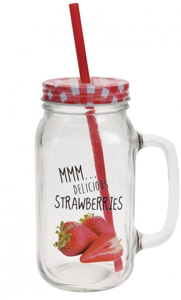 Párty sklenice Strawberries