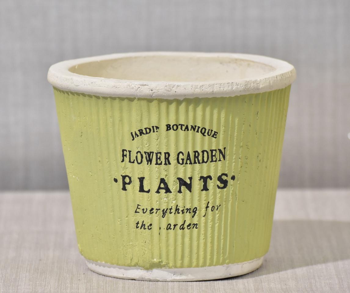 Keramický květináč Plants green 16,5x13,5cm