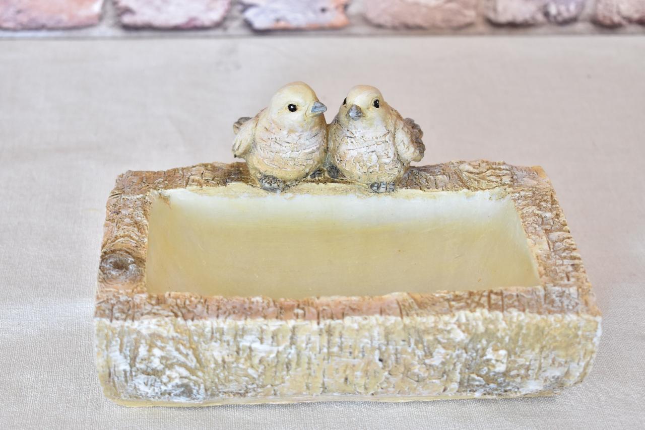 Ptačí pítko s ptáčky 13x18x23,5 cm