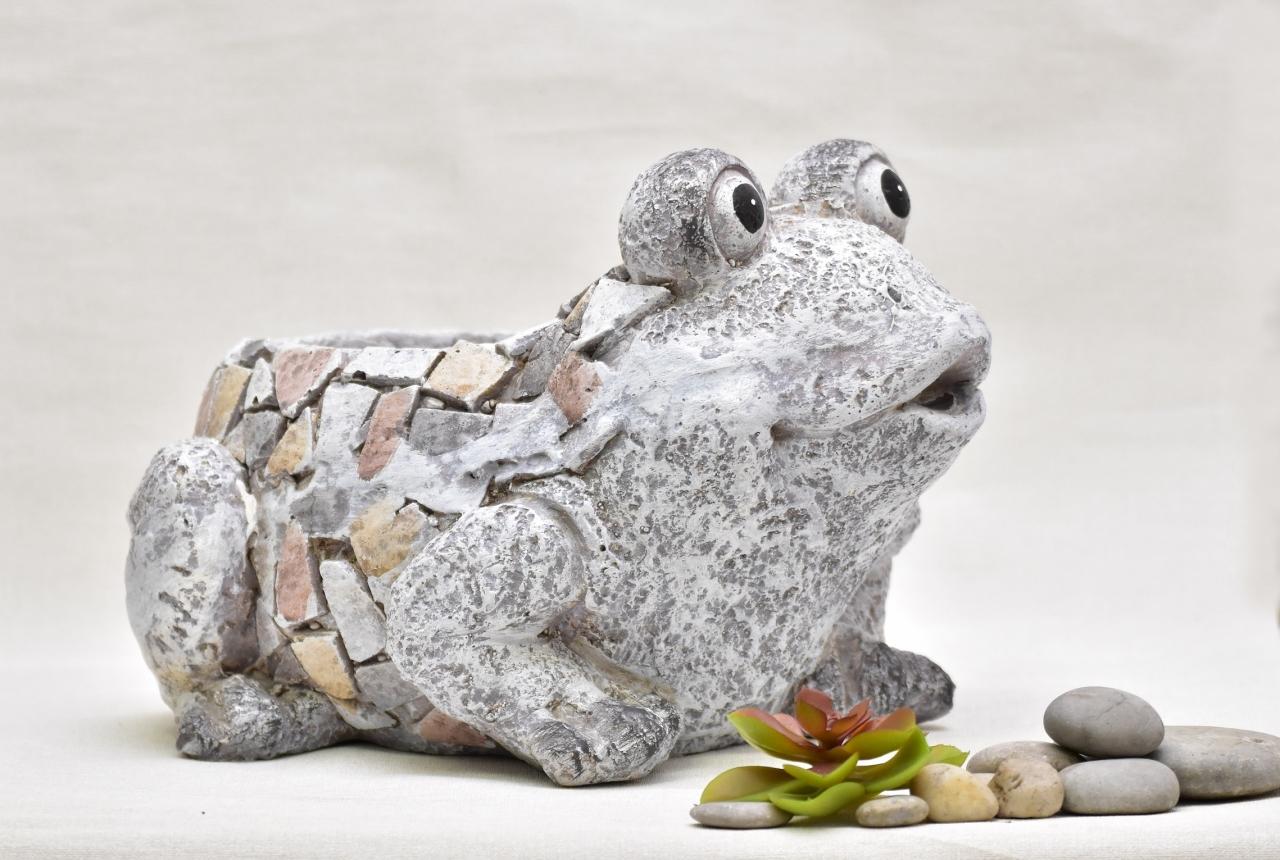 Květináč žába Rita mozaika 22,5 cm
