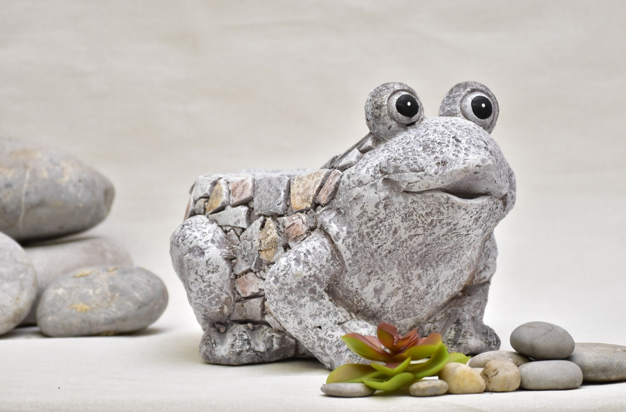 Květináč žába Rita mozaika 19,5 cm