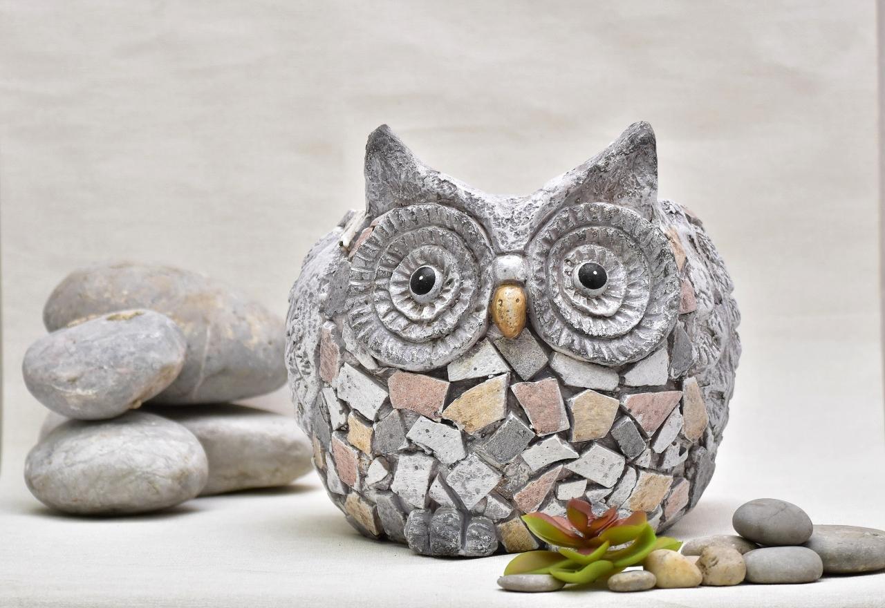 Květináč sova Rita mozaika 23 cm