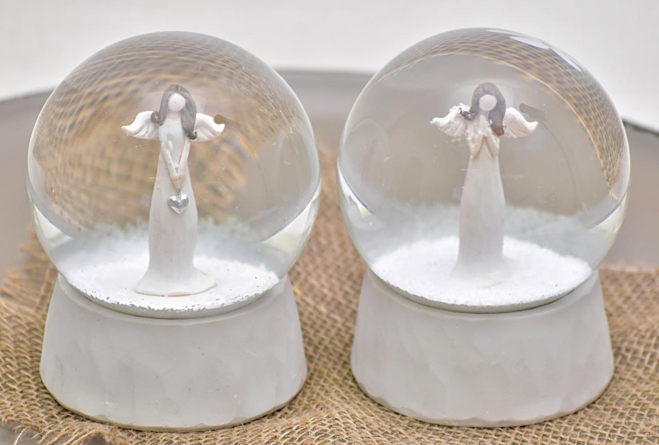 Sněžítko s andělem Darel, bílé