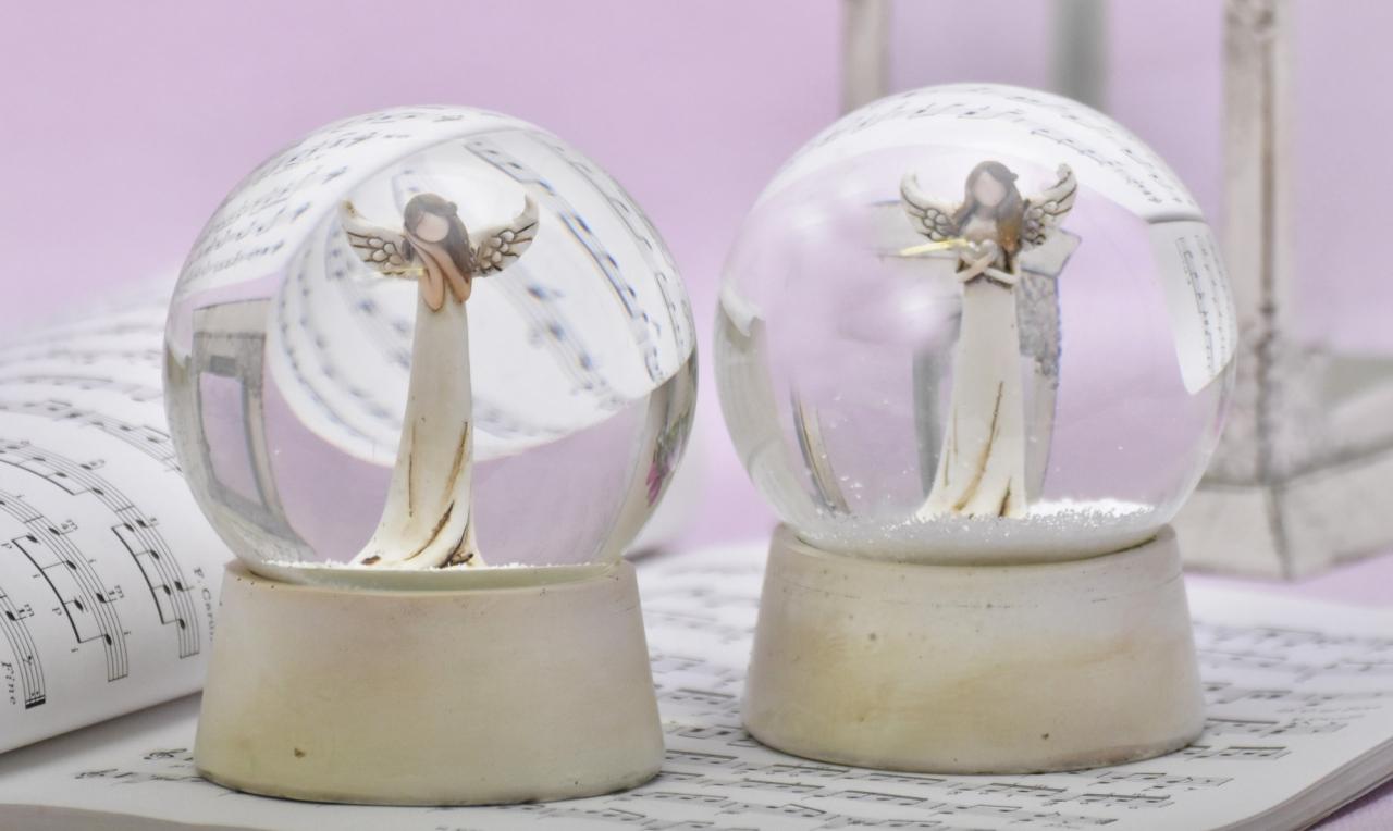 Sněžítko s andělem Zafrire, krém