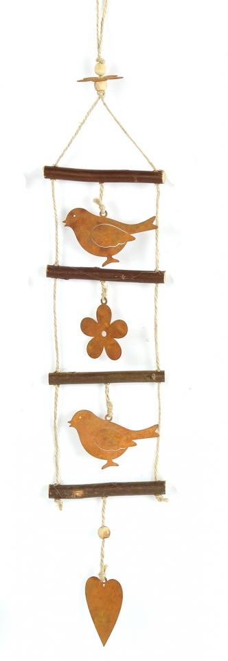 Závěsná dekorace s ptáčkem 56 cm