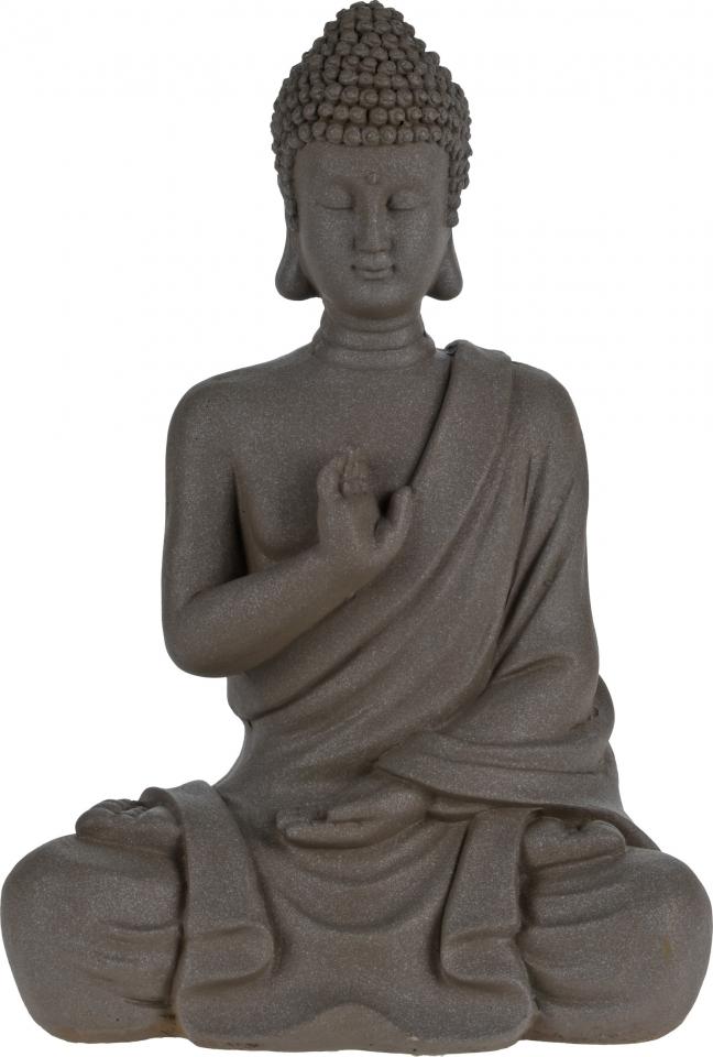 Buddha sedící se vztyčenou rukou