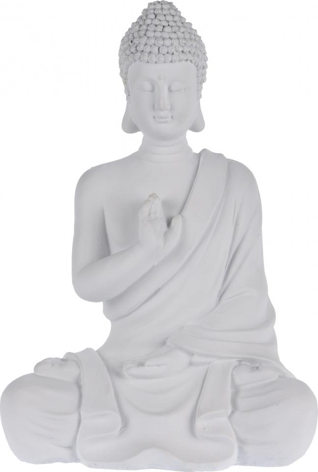 Buddha sedící se vztyčenou rukou 30,5 cm