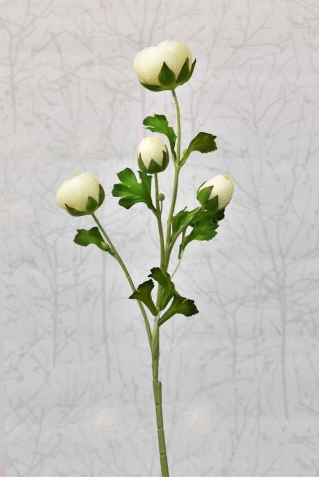 Umělá kamélie krémová, 68 cm